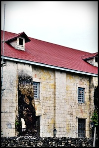 The Magestic Church with Padre Pio's face printed on the wall. It was believed that the face was miraculously made an imprint to the Church.